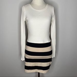 H&M striped mini skirt and top bundle